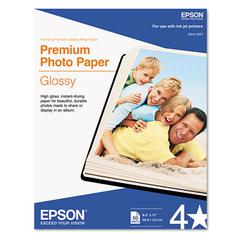 Epson Premium Photo Paper, 68 lbs., High-Gloss, 8-1/2 x 11, 50 Sheets/Pack