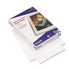 Epson Ultra-Premium Glossy Photo Paper, 79 lbs., 4 x 6, 60 Sheets/Pack