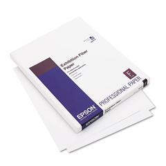 Epson Exhibition Fiber Paper, 8-1/2 x 11, White, 25 Sheets