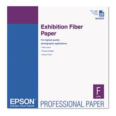 Epson Exhibition Fiber Paper, 17 x 22, White, 25 Sheets