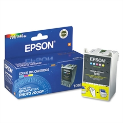 Epson T016201 (16) Ink, Assorted, 5/PK