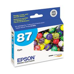 Epson T087220 (87) UltraChrome Hi-Gloss 2 Ink, Cyan