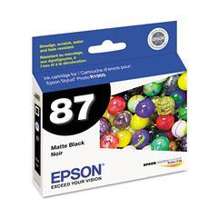 Epson T087820 (87) UltraChrome Hi-Gloss 2 Ink, Matte Black
