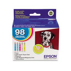 Epson T098920 (99) Claria High-Yield Ink, Assorted, 5/PK