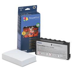 Epson T5570M (T5570-M) PictureMate Print Pack, Tri-Color Ink & Matte Photo Paper