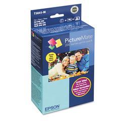 Epson T5845M (T5845-M) PictureMate 200 Print Pack, Tri-Color Ink & Matte Photo Paper