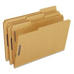 Kraft Fastener Folders, 2 Fasteners, 1/3 Cut Tabs, Legal, 50/Box