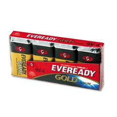 Eveready Gold Alkaline Batteries, 9V, 4 /Pk