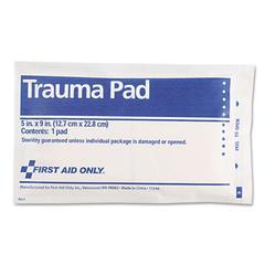 "First Aid Only Trauma Pad, 5"" x 9"""