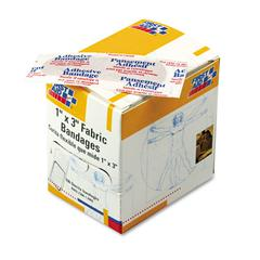 """First Aid Only Fabric Bandages, 1"""" x 3"""", 100/Box"""
