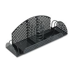 Fellowes Perf-Ect Multi Desk Organizer, Metal/Wire, 12 7/8 x 4 x 4 3/4, Black