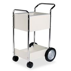 Steel Mail Cart, 75-Folder Capacity, 20w x 25-1/2d x 39h, Dove Gray