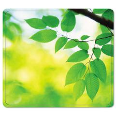 Fellowes Recycled Mouse Pad, Nonskid Base, 7 1/2 x 9, Leaves