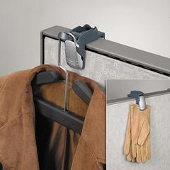 Fellowes Pro Series Partition Additions Coat Hook & Clip, 1 5/8 x 2 3/4 x 3, Slate Gray