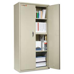 FireKing Storage Cabinet, 36w x 19-1/4d x 72h, UL Listed 350°, Parchment