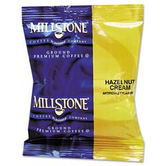 Millstone Gourmet Coffee, Hazelnut Cream, 1.75 oz Fraction Pack, 24/Carton