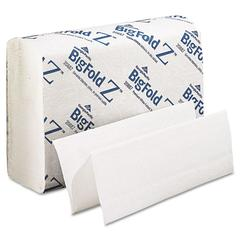 BigFold Paper Towels, 10 1/5 x 10 4/5, White, 220/Pack, 10 Packs/Carton