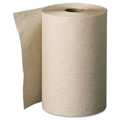 Nonperforated Paper Towel Rolls, 7 7/8 x 350ft, Brown, 12 Rolls/Carton