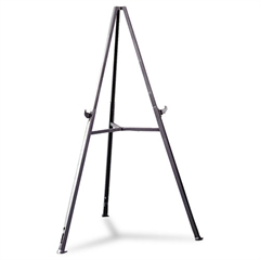"Ghent Triumph Display Easel, Adjust 37"" to 62"" High, Gray"