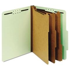 Pendaflex Pressboard Classification Folders, 8 Fasteners, 2/5 Cut, Letter, Green, 10/Box