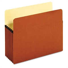 Standard File Pockets, Redrope, 5 1/4 Inch Expansion, Letter, Brown, 10/Box