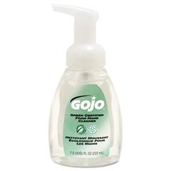 GOJO Green Certified Foam Soap, Fragrance-Free, Clear, 7.5 oz. Pump Bottle