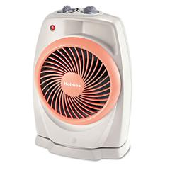 ViziHeat 1500W Power Heater & Fan, Plastic Case, 9 1/4 x 6 3/8 x 13 3/4, White