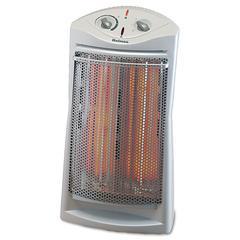 Quartz Tower Heater w/Two Heat Settings, 14w x 9 3/4d x 24h