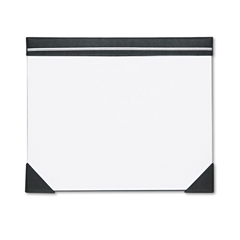 Executive Doodle Desk Pad, 25-Sheet White Pad, Refillable, 22 x 17, Black/Silver
