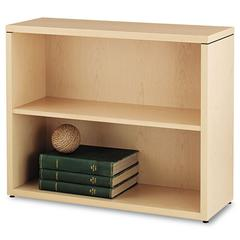 HON 10500 Series Laminate Bookcase, Two-Shelf, 36 x 13-1/8 x 29-5/8, Natural Maple