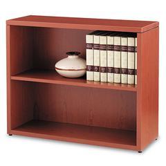 HON 10500 Series Laminate Bookcase, Two-Shelf, 36w x 13-1/8d x 29-5/8h, Henna Cherry