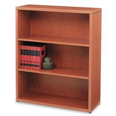 10500 Series Laminate Bookcase, Three-Shelf, 36 x 13-1/8 x 43-3/8, Henna Cherry