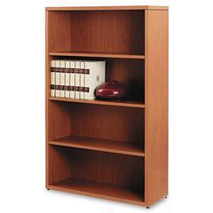 10500 Series Laminate Bookcase, Four-Shelf, 36 x 13-1/8 x 57-1/8, Bourbon Cherry
