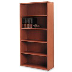 10500 Series Laminate Bookcase, Five-Shelf, 36w x 13-1/8d x 71h, Henna Cherry