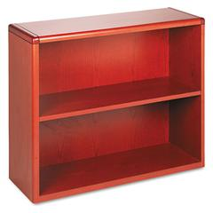 10700 Series Wood Bookcase, Two Shelf, 36w x 13 1/8d x 29 5/8h, Henna Cherry