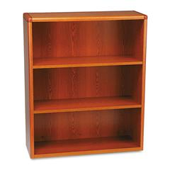 HON 10700 Series Wood Bookcase, Three Shelf, 36w x 13 1/8d x 43 3/8h, Henna Cherry