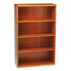 10700 Series Wood Bookcase, Four Shelf, 36w x 13 1/8d x 57 1/8h, Henna Cherry