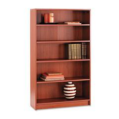 1870 Series Bookcase, Five Shelf, 36w x 11 1/2d x 60 1/8h, Henna Cherry