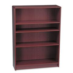 HON 1890 Series Bookcase, Four Shelf, 36w x 11 1/2d x 48 3/4h, Mahogany