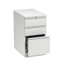 Efficiencies Mobile Pedestal File w/One File/Two Box Drwrs, 22-7/8d, Lt Gray