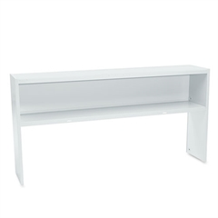 38000 Series Stack On Open Shelf Hutch, 72w x 13 1/2d x 34 3/4h, Light Gray