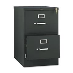 HON 510 Series Two-Drawer, Full-Suspension File, Legal, 29h x25d, Black