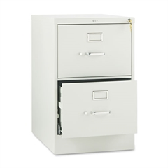 510 Series Two-Drawer, Full-Suspension File, Legal, 29h x25d, Light Gray