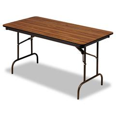 Iceberg Premium Wood Laminate Folding Table, Rectangular, 60w x 30d x 29h, Oak