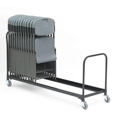 "Iceberg Folding Chair Cart, 34-Chair Capacity, 21"" x 8 ft, Black"