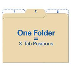 Findit File Folders, 1/3 Cut, 11 Pt Stock, Letter, Manila, 80/Pack