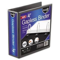 """Gapless Loop Ring View Binder, 11 x 8-1/2, 4"""" Capacity, Black"""