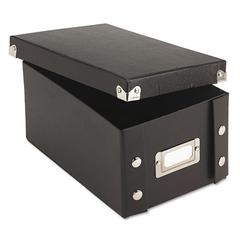 Snap-N-Store Collapsible Index Card File Box, Holds 1,100 4 x 6 Cards, Black
