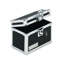 Vaultz Vaultz Locking Index Card File with Flip Top Holds 350 3 x 5 Cards, Black