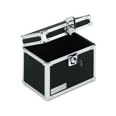 Vaultz Vaultz Locking Index Card File with Flip Top Holds 450 4 x 6 Cards, Black